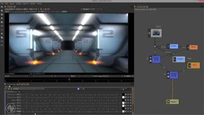 Capture d'écran du logiciel Natron